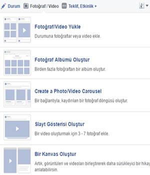 facebook fotograf ve video paylasimi - Facebook Paylaşım Çeşitleri